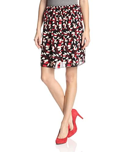 Anna Sui Women's Chill Lilly Print Skirt