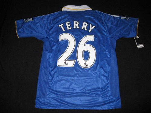 08-09 CHELSEA FC HOME JERSEY TERRY + FREE SHORT (SIZE XL)
