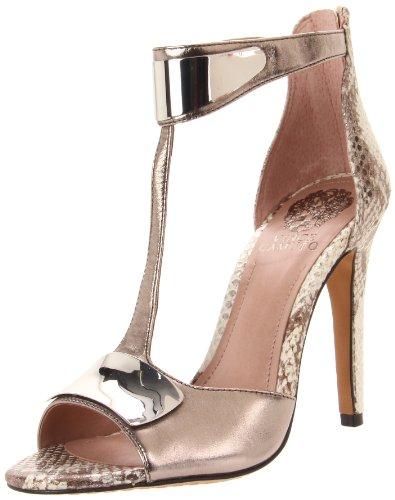 Vince Camuto Women's Kipton Sandal,Steel/Silver,8.5 M US