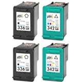 2x HP 342 Colour & 2x HP 336 Black Remanufactured Ink Cartridges For Deskjet / PSC / Photosmart 5440 D4160 6310 6315 1507 1510 1510s 2750 2575 2710 C3170 C3180 C3180s C3175 C3190 7850 Printers. FREE DELIVERY!
