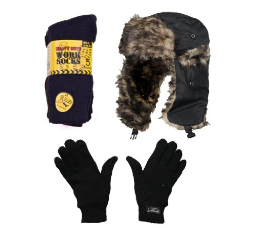 mens-winter-thermal-christmas-gift-set-xmas-stocking-filler-trapper-ski-hat-thermal-glove-thermal-bo