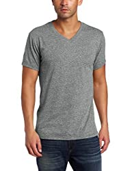 Threads 4 Thought Men's Triblend V-Neck Tee, Heather Gray, XX-Large