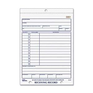 Rediform Receiving Record, Carbonless Triplicate, 5.5 x 7.5 Inches, 50 Sets per Book (2L260)