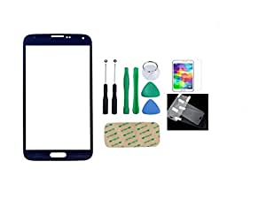 Dynamics Replacement for Samsung Galaxy Note 2 N7100 Outer Front Glass Top Lens + Free Tools with Screen Protector & Cleaning Cloth (Blue)