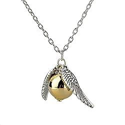 Via Mazzini Metal Harry Potter Snitch Silver Golden Pendant Necklace For Men And Women
