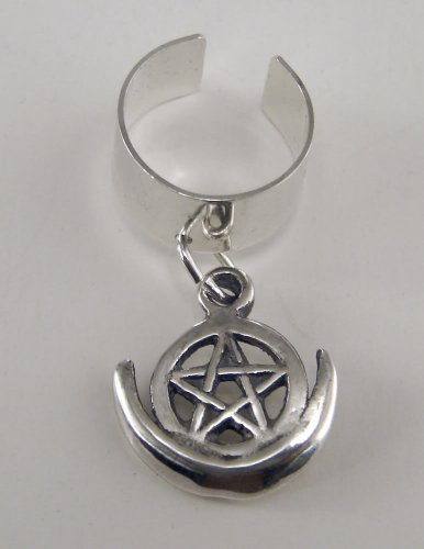 A Splendid Sterling Silver Pentacle Ear Cuff
