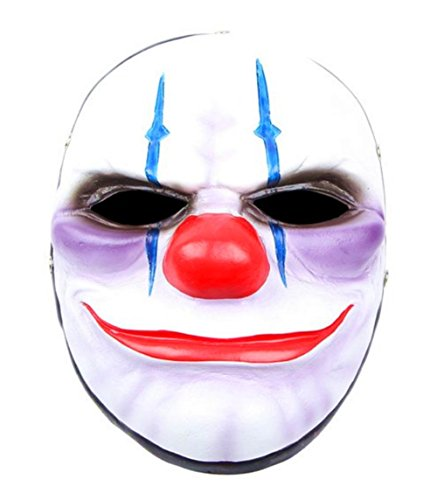 Halloween Mask Payday2 Clown Dallas Chains HOXTON Wolf Resin