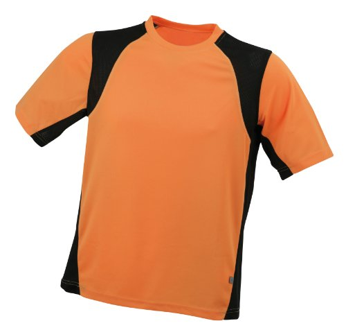 James & Nicholson Men's Shirt Running T - Orange, L