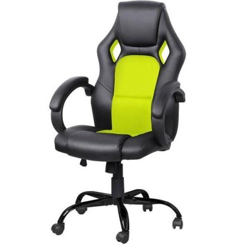 high-back-race-car-style-bucket-seat-office-desk-chair-gaming-chair-green