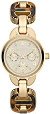 Michael Kors MK4275 Womens Gold Watch with Tortoise Shell Accent