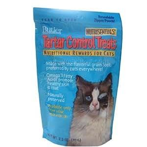 Butler Nutrisentials Tartar Control Treats for Cats, 2.5 oz, 20 Pack