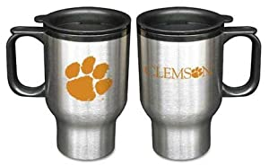 Clemson Tigers 16 oz. Stainless Steel Travel Mug (Set of Two)