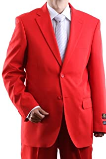 Men's Single Breasted Two Button Red Dress Suit