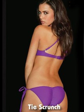 Sexy Grape Tie Side Scrunch Bikini Bottoms - SMALL merida chica j12 2016