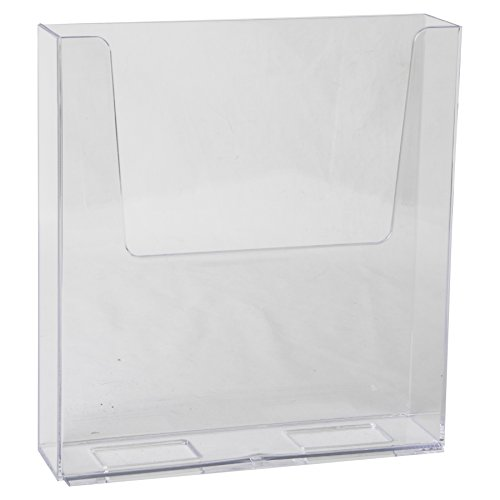 Clear-Ad - LHF-S160 - Acrylic Free Standing Flyer Holder 8.5 x 11 (Pack of 4) (License Plate Display Rack compare prices)