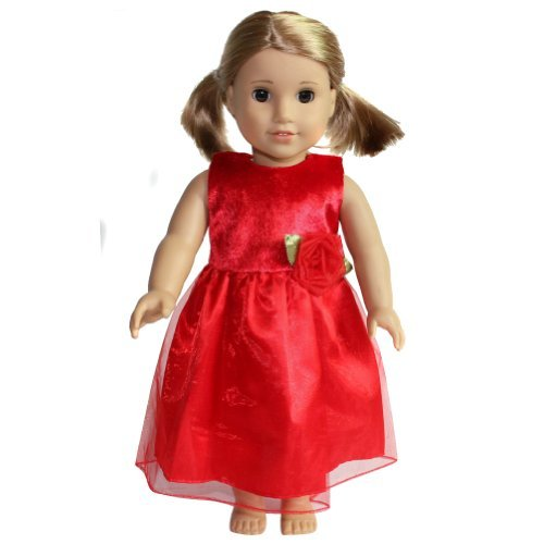 "18"" Doll Red Party Dress - 1"