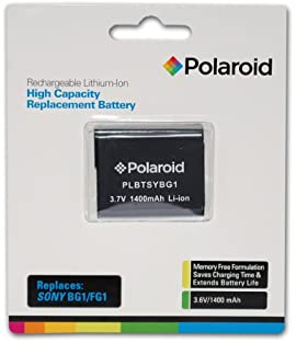 Polaroid High Capacity Sony BG1 Rechargeable Lithium Replacement Battery (Compatible With: Cybershot DSC-H70, HX7V, WX10, HX9V, T110, HX5V, H55, H9, H10, WX1, W35, W230, W80, N2, W50, W150, H50, W200, W90, W290, W170, W55, W120, W70, Cybershot HX5V, H55, H50, H10, H9, H7, H3, WX1, W35, W230, W80, W50, W150, W200, W90, W290, W170, W55, W120, W70, T20, T100, W300, W220, W130, W30, W150, N1, N2)