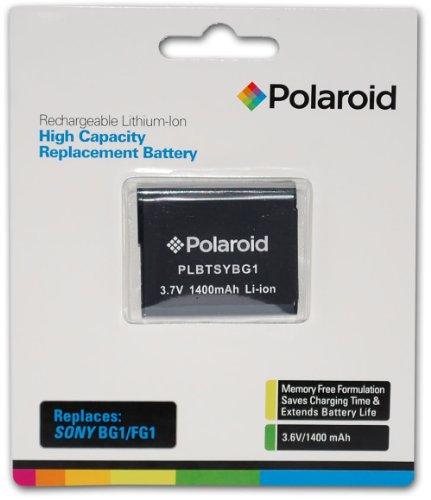Polaroid High Capacity Sony BG1 Lithium Akku (kompatibel mit: Cybershot DSC-H70, HX7V, WX10, HX9V, T110, HX5V, H55, H9, H10, WX1, W35, W230, W80, N2, W50, W150, H50, W200, W90, W290, W170, W55, W120, W70, Cybershot HX5V, H55, H50, H10, H9, H7, H3, WX1, W35, W230, W80, W50, W150, W200, W90, W290, W170, W55 , W120, W70, T20, T100, W300, W220, W130, W30, W150, N1, N2)