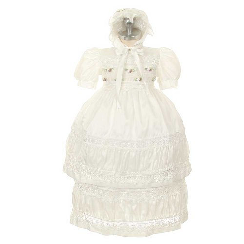 Long Sleeve Christening Gown