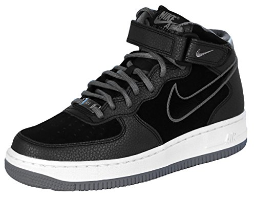 Nike Women's Air Force 1 07 Mid Black/Cool Grey High-Top Synthetic Fashion Sneaker - 8M (High Top White Air Force 1 compare prices)