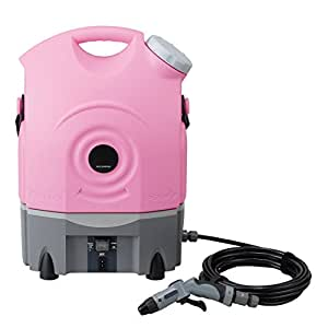 ツカモトエイム バッテリー内蔵 ポータブルウォッシャー(ピンク) AIM-PWR01(PK)