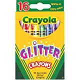 Memorable Crayola 16 Glitter Crayons - Cleva Edition H8' Bundle