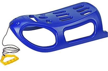 XQ-Max Schlitten Bob Rodel Kunststoff Metallkufen blau - L86cm