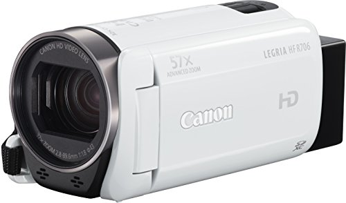 Canon Legria HF R706 Videocamera Digitale Full HD, Zoom 57x, Bianco