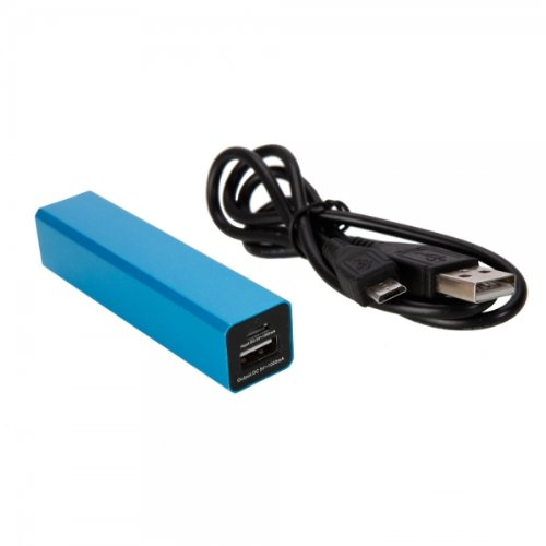 Marzey Blue 2600Mah Rectangular Standard Mobile Power Bank Charger For Zen Mobile U5 By Things Needed