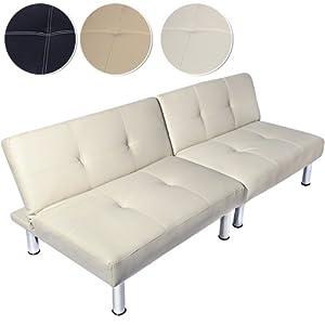 Miadomodo sfbd01 divano letto a due posti colore a scelta crema casa e cucina - Divano letto 2 posti amazon ...