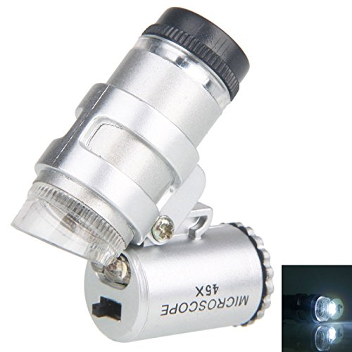 Great Value Loupe & Magnifying Glass 45X Microscope Magnifier Mini Magnifying Loupe With Led Light