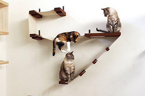 catastrophicreations deluxe cat playplace   cat hammock  u0026 climbing activity center   handcrafted wall mounted cool cat tree plans  cat shelves  rh   coolcattreeplans