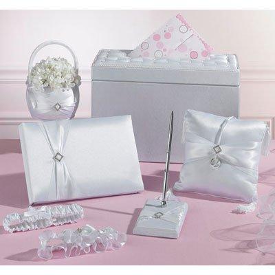 Diamond Wedding 6-Piece Set in Gift Card Box - White