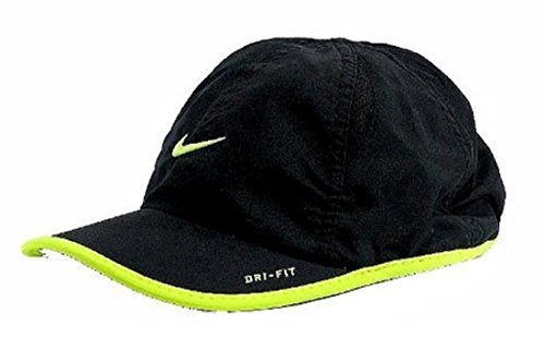 buy Nike Boy's Dri-Fit Baseball Cap Embroidered Logo Hat (4/7, Black/Volt) for sale