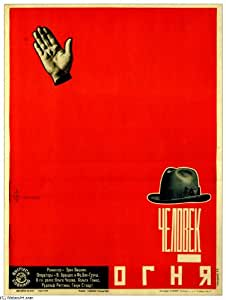 Oil on canvas - 21 x 28 inches / 53 x 71 CM - Alexander Rodchenko - The Fire's Man