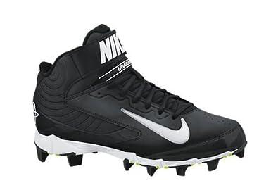 Buy Mens Nike Huarache Keystone 3 4 Molded Baseball Cleat Graphite White by Nike