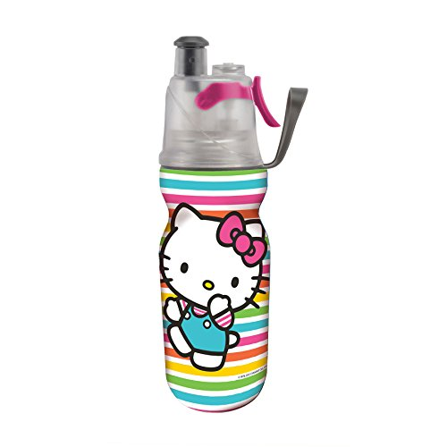 O2COOL-Licensed-ArcticSqueeze-Insulated-Mist-N-Sip-Squeeze-Bottle-12-oz-Hello-Kitty