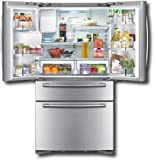 Samsung RF4287 28 Cubic Foot French Door Refrigerator with 4 Doors and Integrated Water & Ice, Real Stainless