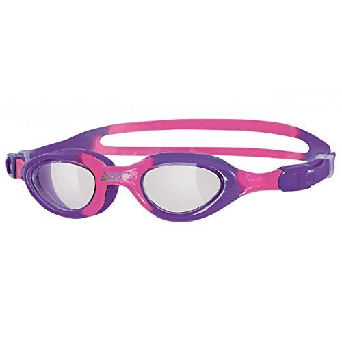 Zoggs - Occhialini da bambini, massima aderenza, Rosa (Clear/Pink/Purple), 0-6 anni