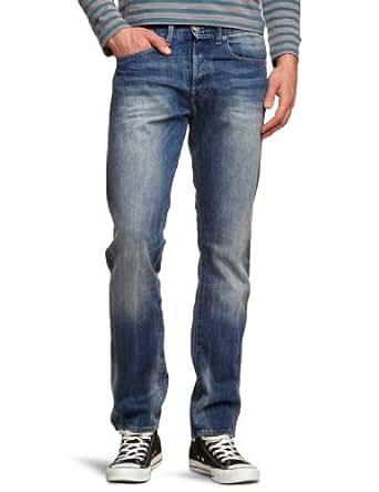 G-star - 3301 - Jean - Coupe Droite - Délavé Stone - Homme, Bleu (Medium Aged 071), W28/L32 (Taille Fabricant : W28/L32)