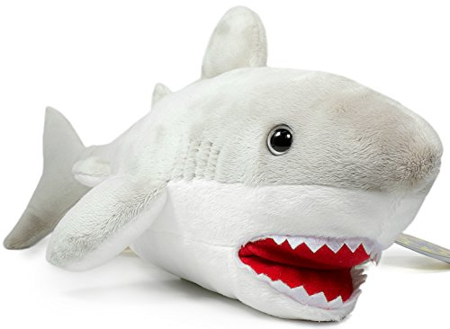 Mason the Great White Shark | 16 Inch Large Stuffed Animal Plush | By Tiger Tale Toys (Giant Plush Shark compare prices)