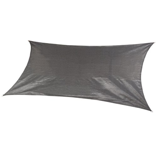 Coolaroo Custom Rectangle Shade Sail, Steel Grey,