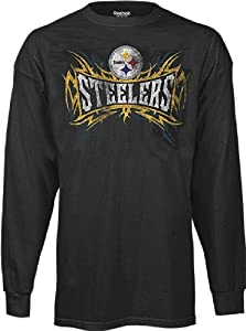 Reebok Pittsburgh Steelers Outlast Black Longsleeve T-Shirt