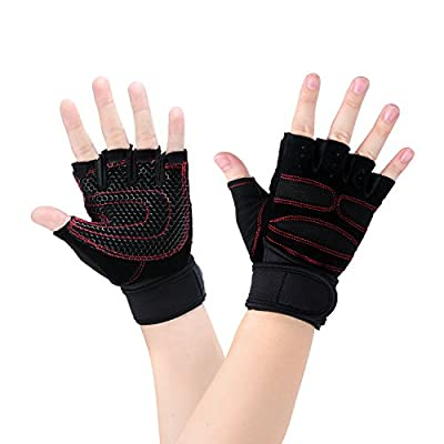 Sport Gloves - Vitalismo Men's Weight Lifting Half Finger Skid Resistance Breathable Biking Bicycle Gloves for Exercise, Outdoor Sports, Riding Racing Equipment