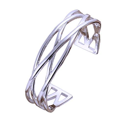 gogobuybuy 925 Silver Women Ladies Bangle Bracelet