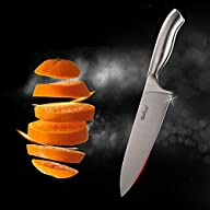 Chef Knife Stainless Steel 8-inch Bla…