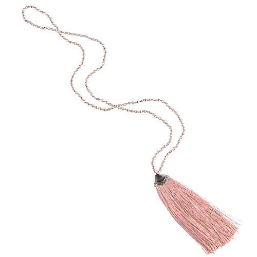 kelitch-plata-bead-largo-cadena-borla-collar-lago-rosado