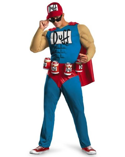 Mens Classic Muscle The Simpsons Duffman Costume Size Xx-Large