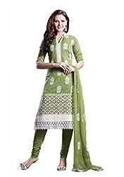 Nirali Womens Silk Dress Material (Nrbxr No 522 -Green -Free Size)