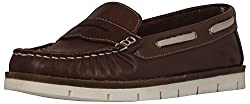 Palma Moda Womens Chocolate Leather Loafers - 6 Uk